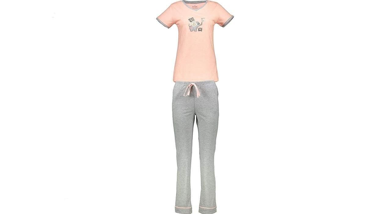 ست تی شرت و شلوار راحتی زنانه ناربن مدل PG147