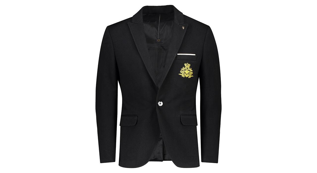 کت تک مردانه جیوبرتی مدل Black Terico02