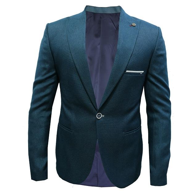 کت تک مردانه مدل blue-green wide cont