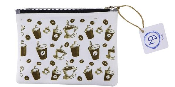 کیف لوازم آرایش طرح قهوه
