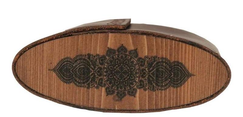 جای عینکی با طبله چوبی و چرم مرغوب و طبیعی گاوی