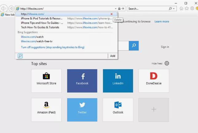 پاک کردن تاریخچهی نوار جستجو در Internet Explorer