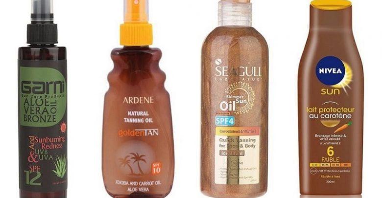 بهترین محصولات برنزه کردن پوست