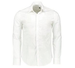 پیراهن آستین بلند سفید مردانه