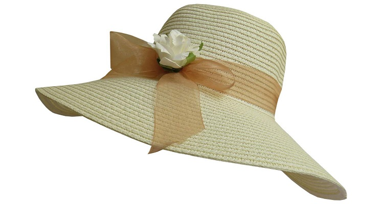 کلاه زنانه حصیری مدل شهرزاد کد 01