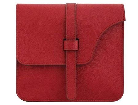 کیف دوشی زنانه چرم طبیعی جانتا مدل 074a