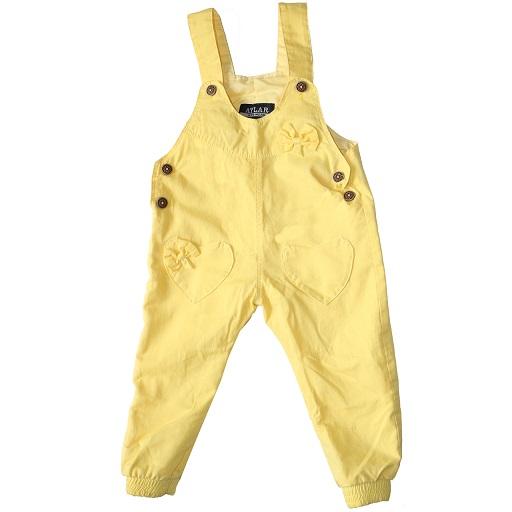 شلوار پیشبندی نوزادی دخترانه کد SY رنگ زرد