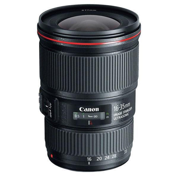 بهترین لنز واید برای دوربینهای کانن:Canon EF 16-35mm f/4L IS USM