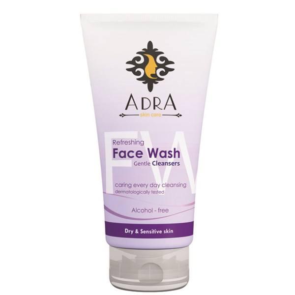 ژل شستشوی صورت آدرا مخصوص پوست های حساس و خشک