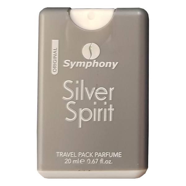 ادکلن جیبی مردانه سیمفونی مدل Silver Spirit