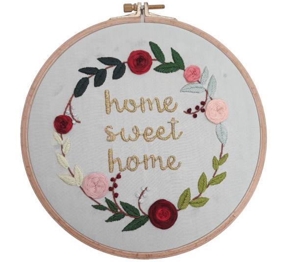 تابلو گلدوزی طرح Sweet home