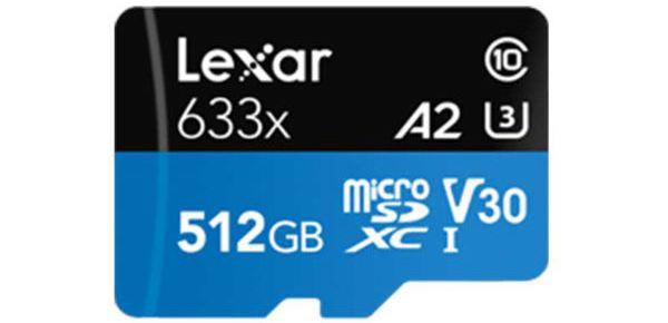 کارت حافظه microSDXC لکسار مدل 633X ظرفیت 512 گیگابایت