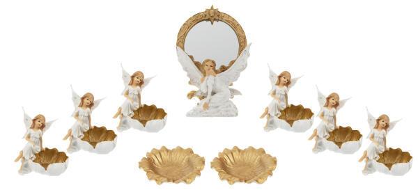 مجموعه ظروف هفت سین 9 پارچه طرح فرشته کد 001