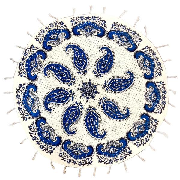 رومیزی قلمکار لوح هنر نقش بته جقه کد 198 سایز 60×60 سانتی متر