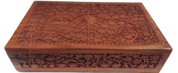 جعبه چوبی منبت کاری هندی مدل 1013-K
