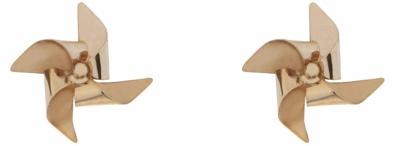 گوشواره طلا 18 عیار طرح فرفره مدل 319