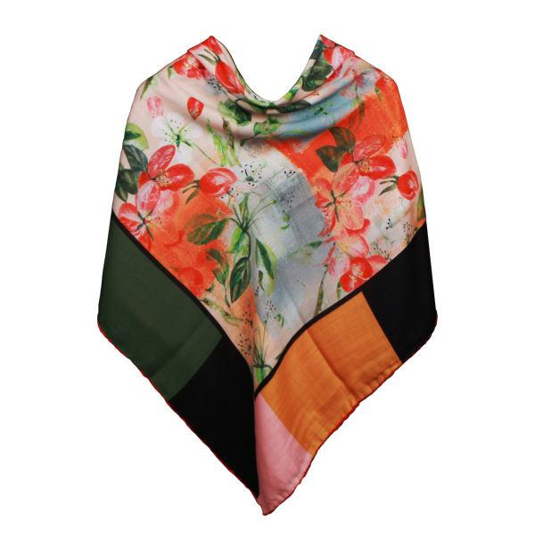 روسری زنانه طرح شکوفه کد KRN-028