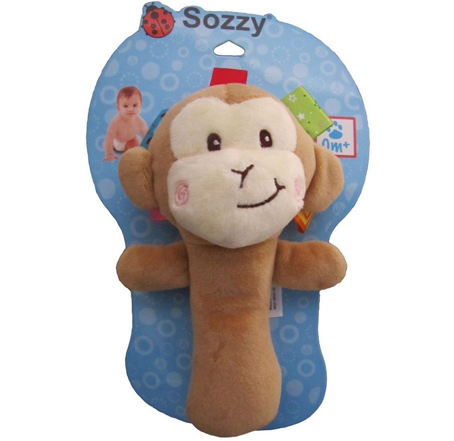 جغجغه کودک سوزی طرح میمون