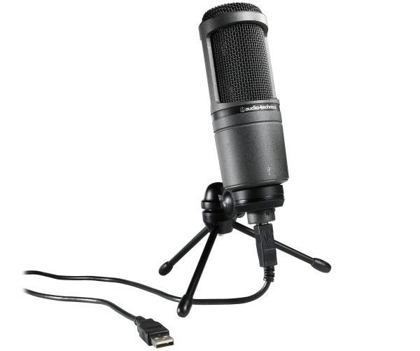 بهترین میکروفون Condenser: Audio Technica AT2020USB