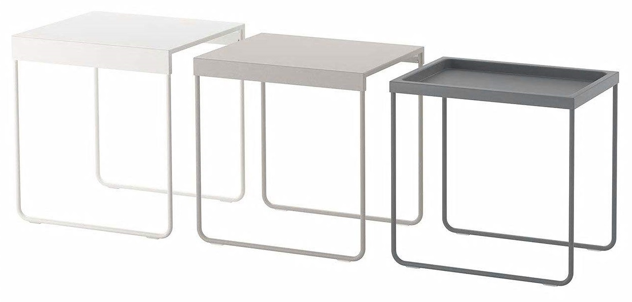 میز عسلی ایکیا گالری آذینک مدل GRANBODA مجموعه 3 عددی