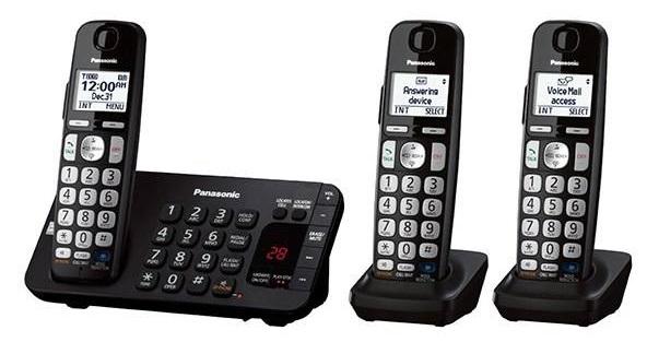 تلفن سهقلو : تلفن تحت شبکه پاناسونیک مدل KX-TGE243B