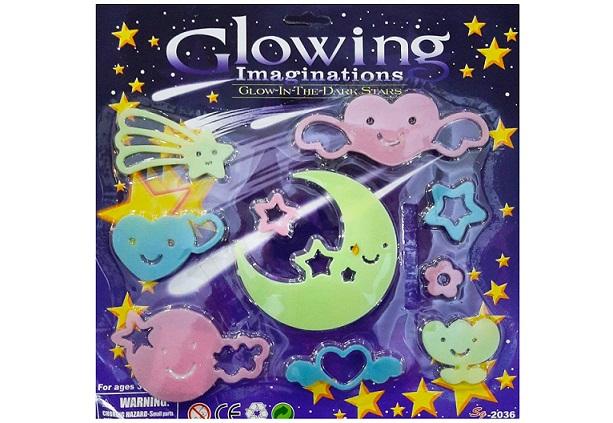 استیکر کودک طرح ماه و ستاره کد A01 مجموعه 12 عددی