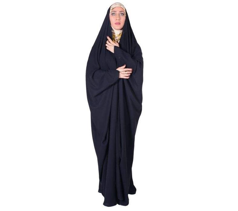 چادر جده عبایی حریرالاسود شهر حجاب مدل 8044