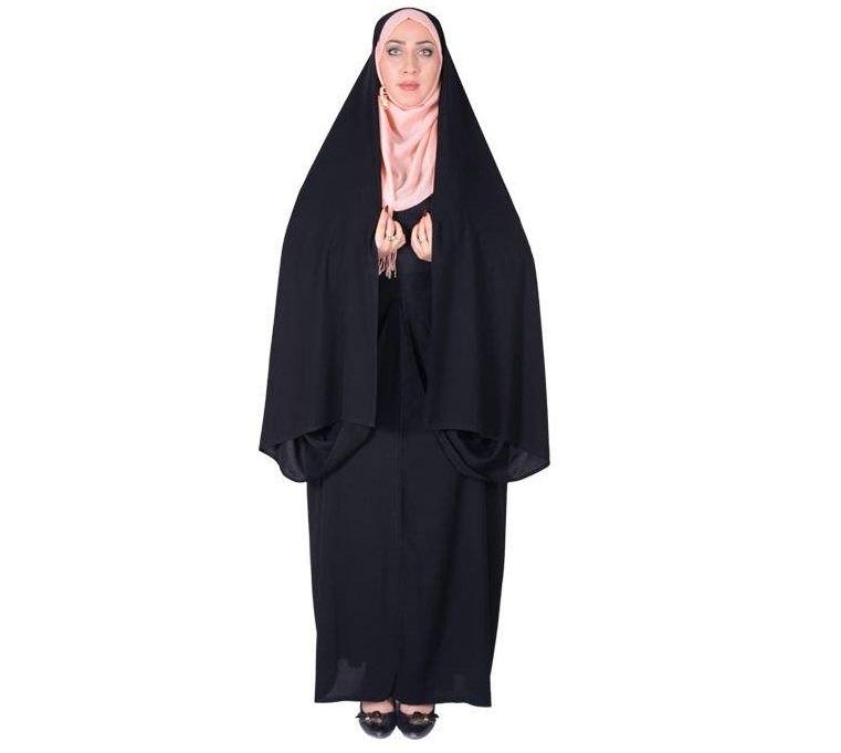 چادر کمری قجری کن کن ژرژت شهر حجاب مدل 8043