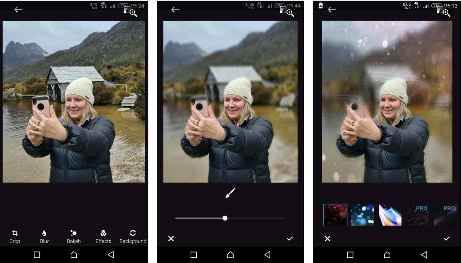 1. اپلیکیشن Blur photo background