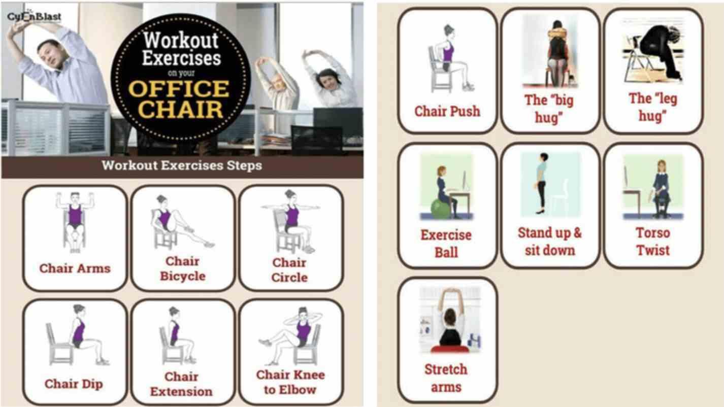 5) اپلیکیشن Easy Workout Exercises on Your Office Chair