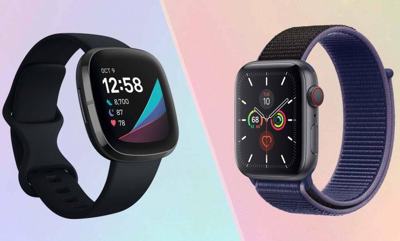 مقایسه دو ساعت هوشمند Apple Watch 6 و Fitbit Sense